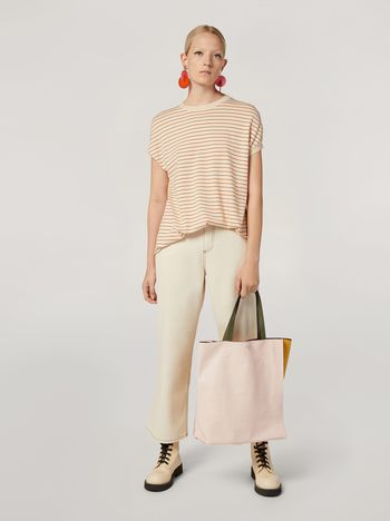 Marni 5-pocket trousers in raw cotton drill Woman f