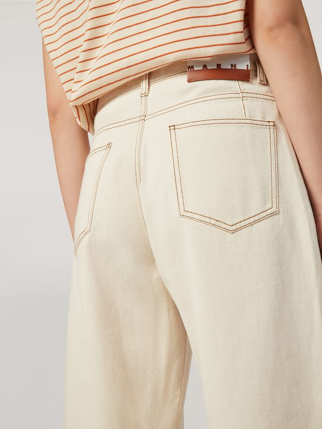 Marni 5-pocket trousers in raw cotton drill Woman - 5