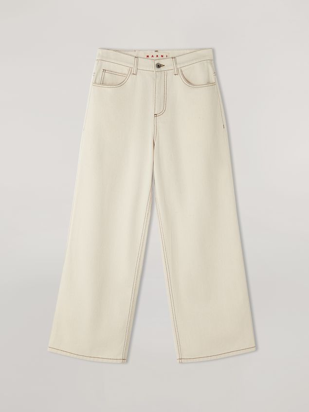 Marni 5-pocket trousers in raw cotton drill Woman - 2