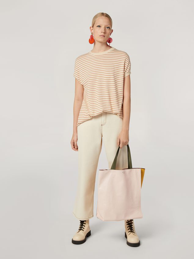 Marni 5-pocket trousers in raw cotton drill Woman - 1