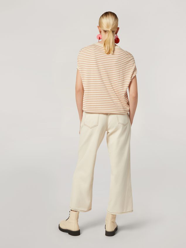 Marni 5-pocket trousers in raw cotton drill Woman - 3