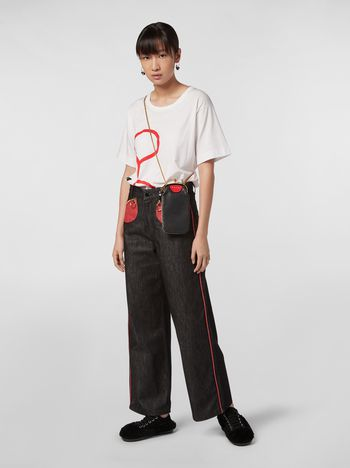 Marni CHINESE NEW YEAR 2020 5-pocket denim trousers Woman f