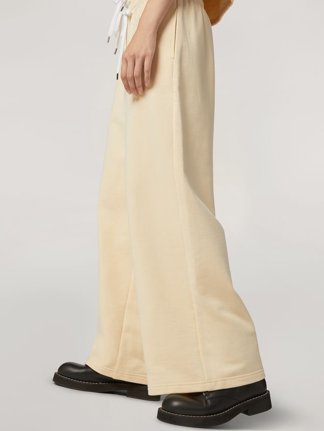 Marni Trousers in compact cotton with elasticized waist and piping Woman - 5