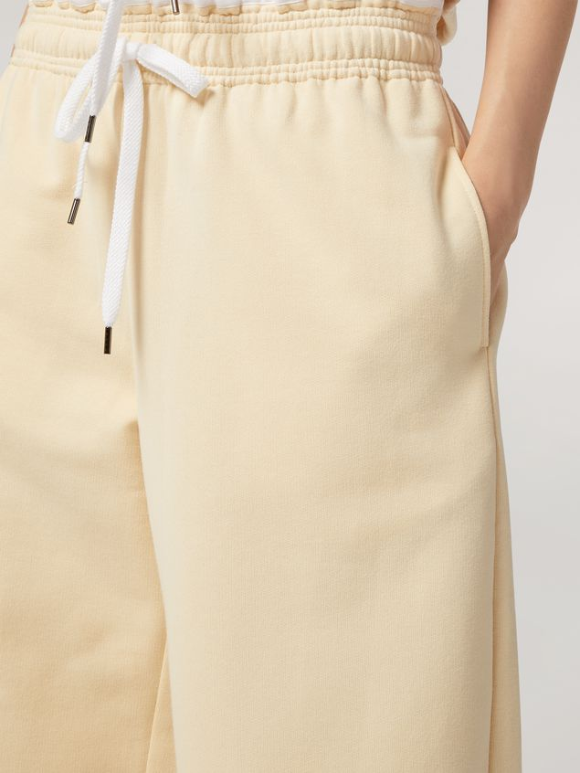 Marni Trousers in compact cotton with elasticized waist and piping Woman - 4