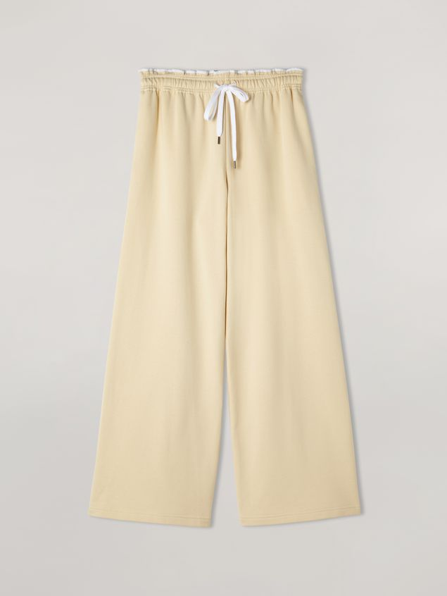 Marni Trousers in compact cotton with elasticized waist and piping Woman - 2