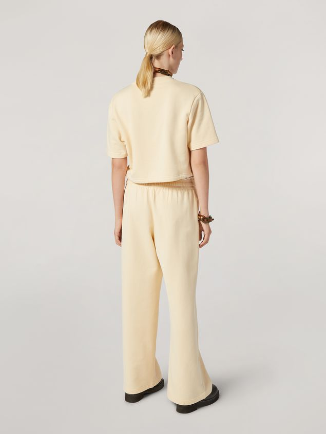 Marni Trousers in compact cotton with elasticized waist and piping Woman - 3