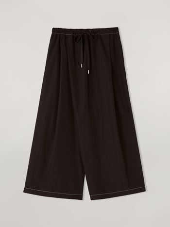 Marni Trousers in poplin with slanted crotch Woman f