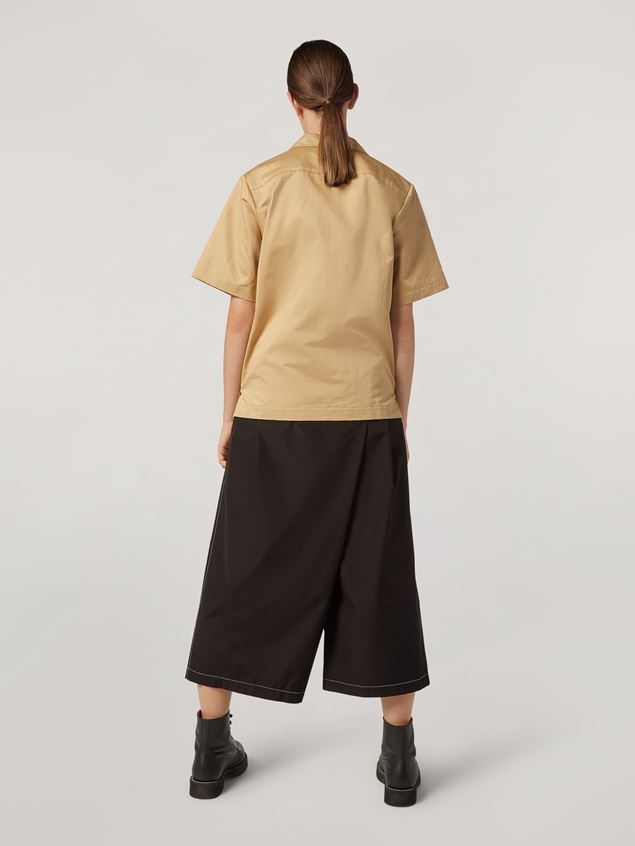 Marni Trousers in poplin with slanted crotch Woman