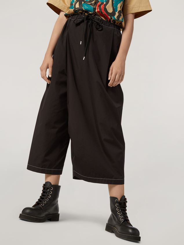 Marni Trousers in poplin with slanted crotch Woman - 5