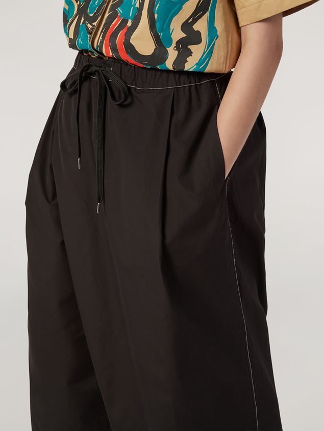Marni Trousers in poplin with slanted crotch Woman - 2