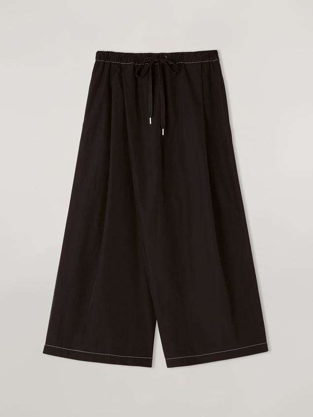 Marni Trousers in poplin with slanted crotch Woman - 1