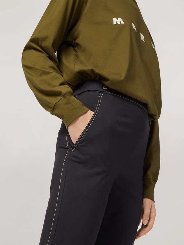 Marni Pantalón de lana tropical con cinturones en la cintura Mujer - 4