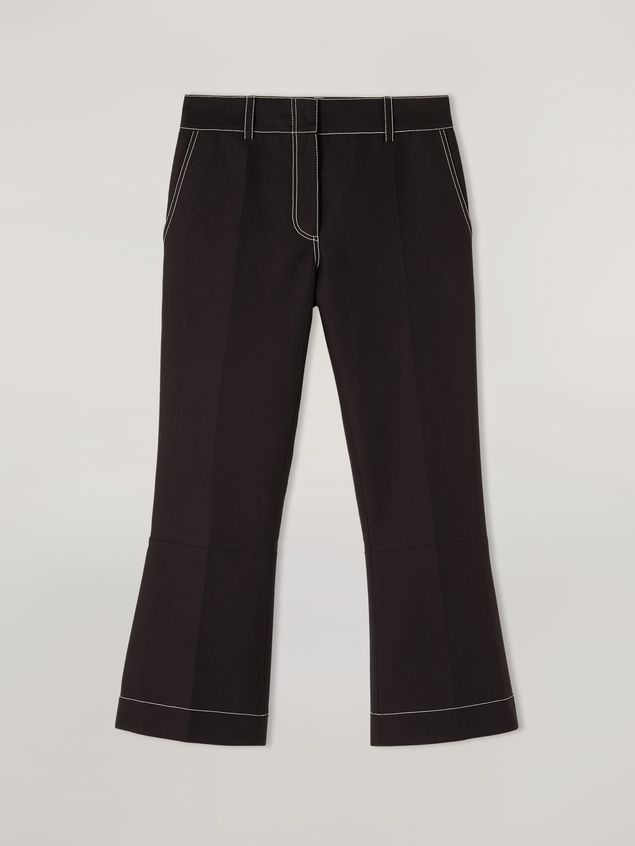 Marni Trousers in cotton cady with contrast topstitching Woman - 2