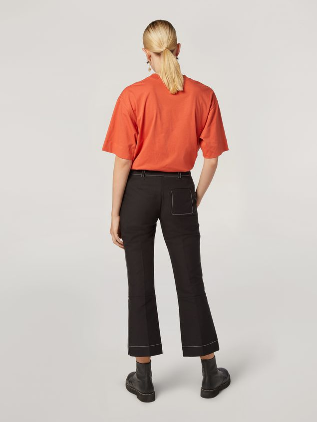 Marni Trousers in cotton cady with contrast topstitching Woman - 3
