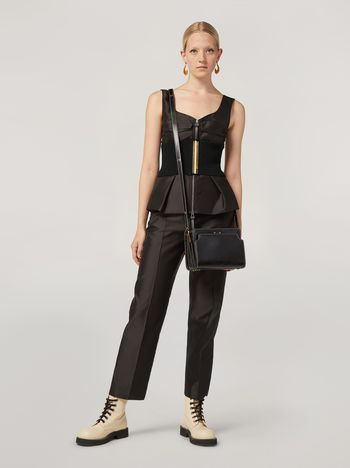 Marni Pencil trousers in mikado techno silk Woman f