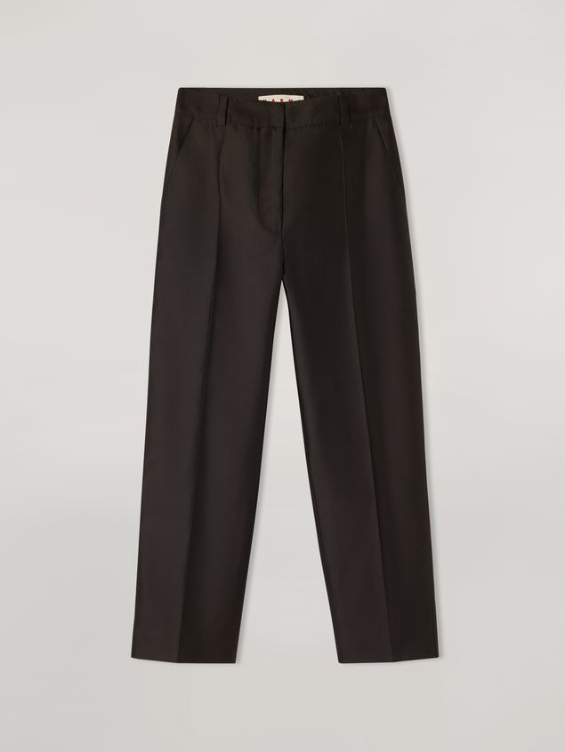 Marni Pencil trousers in mikado techno silk Woman - 2