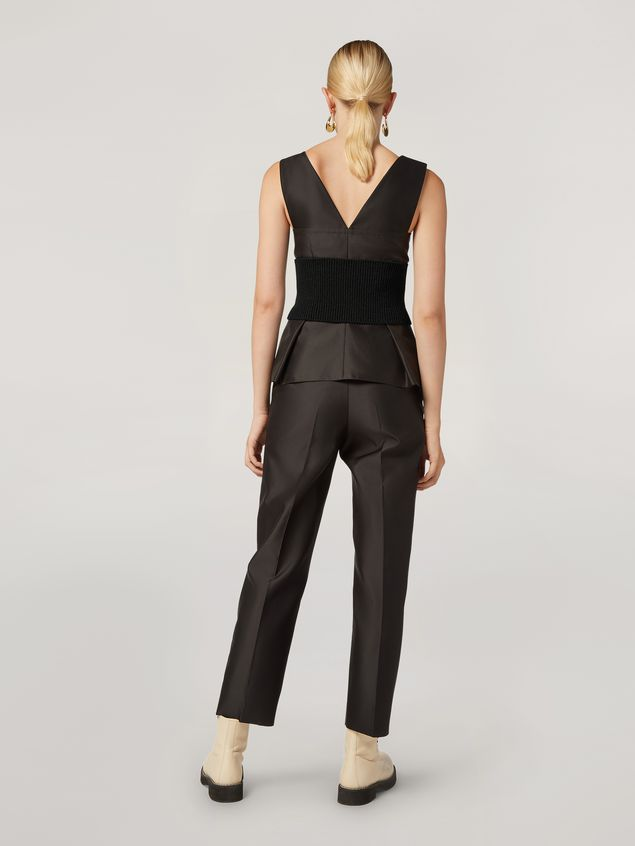 Marni Pencil trousers in mikado techno silk Woman - 3