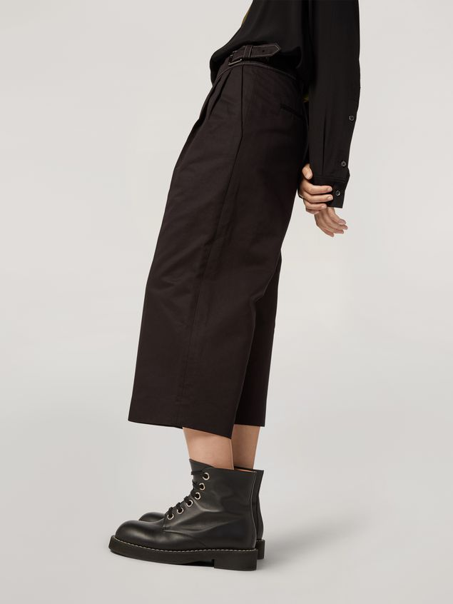 Marni Extra-loose leg trousers in cotton and linen drill Woman - 5