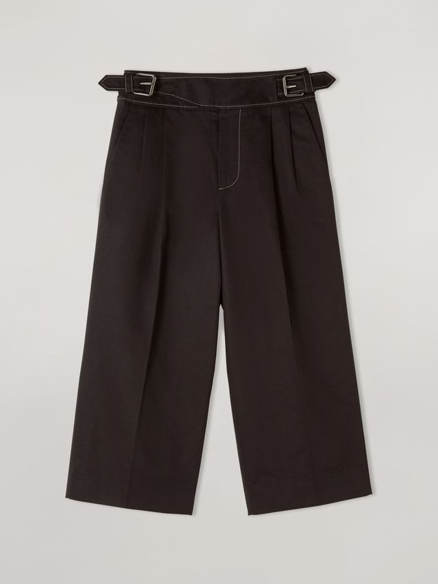 Marni Extra-loose leg trousers in cotton and linen drill Woman - 2
