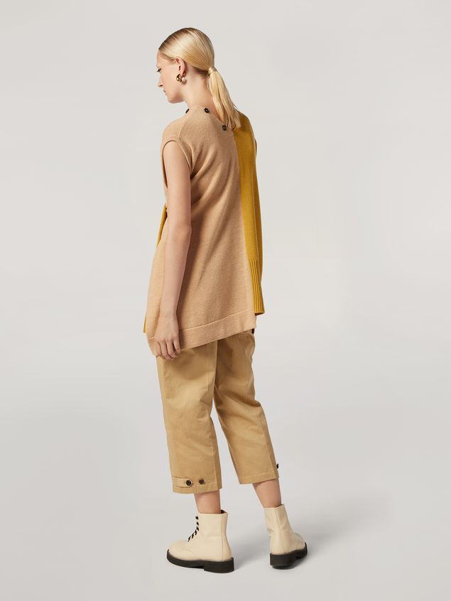 Marni Trousers in cotton and linen drill with belted bottom Woman
