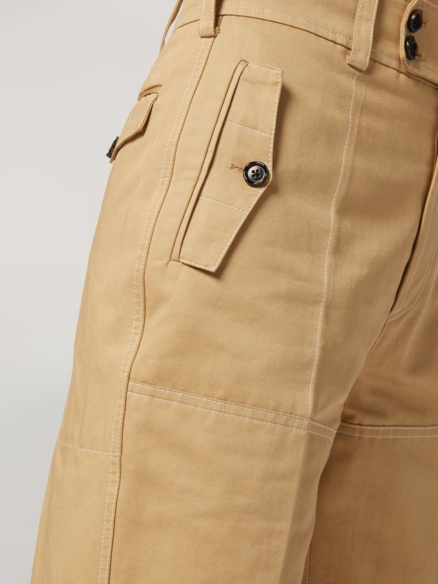 Marni Trousers in cotton and linen drill with belted bottom Woman - 4