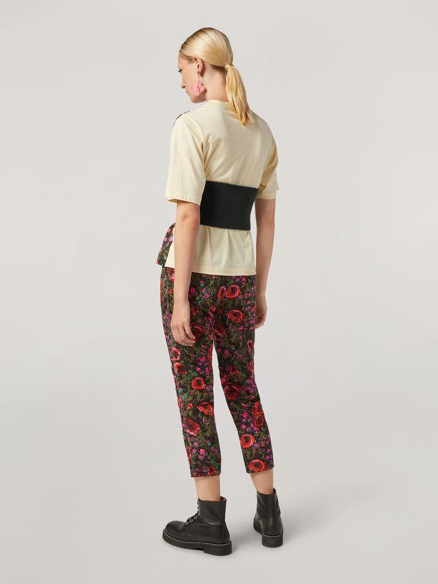 Marni Pantaloni in faille stampa Amarcord con gamba asciutta Donna