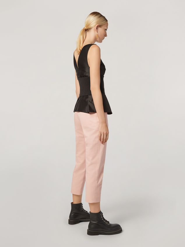 Marni Pencil trousers in cotton and linen drill  Woman