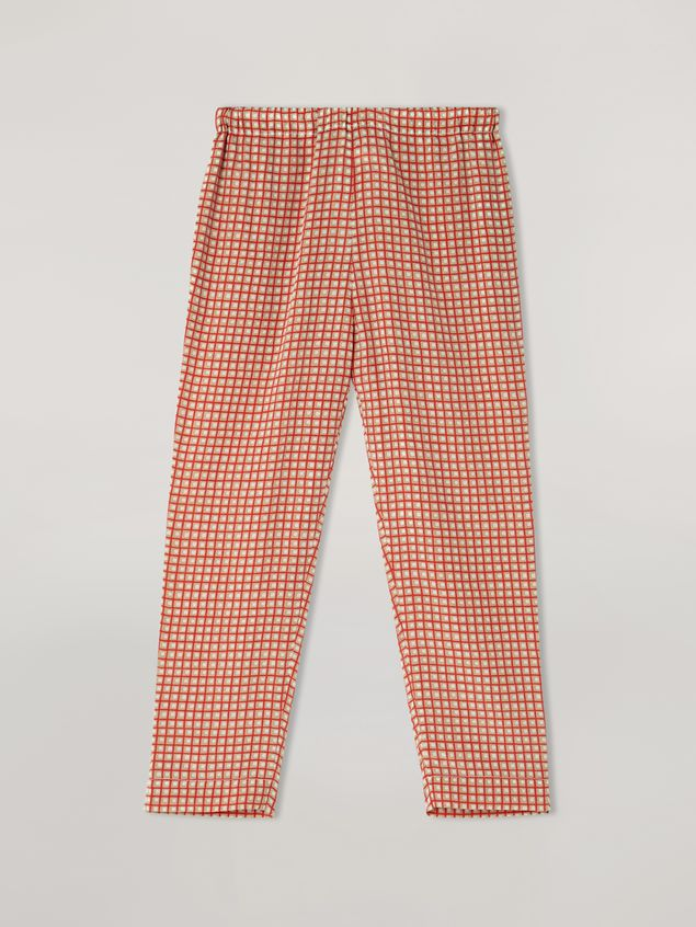 Marni Trousers in silk crepe Hive print with elasticized waist Woman - 2