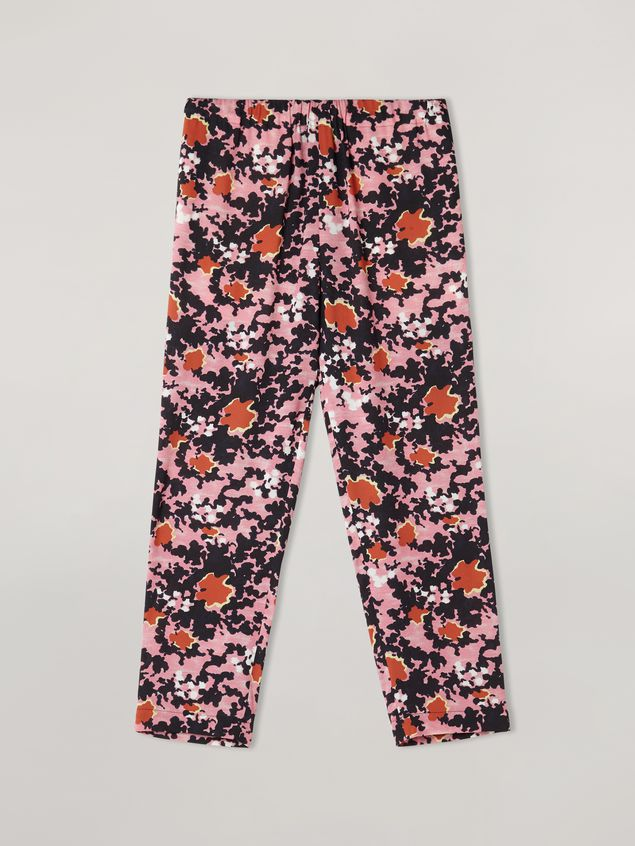 Marni Trousers in viscose sablé Buds print with elasticized waist Woman - 2