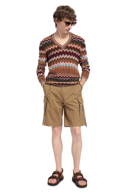 MISSONI Shorts Camel Man - Front