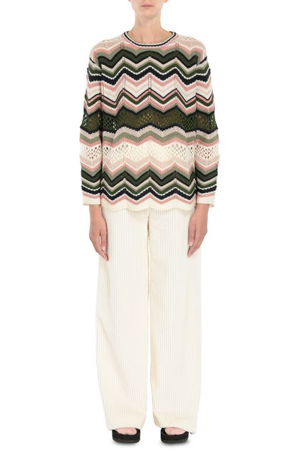 M MISSONI Pants Beige Woman - Back