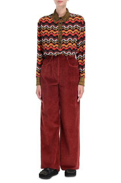 M MISSONI Pants Brick red Woman - Back