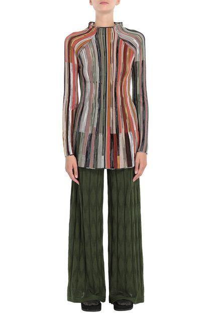 M MISSONI Pants Military green Woman - Back