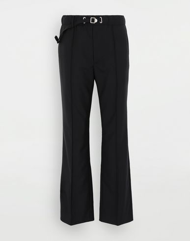 TROUSERS Adjustable wool trousers Black