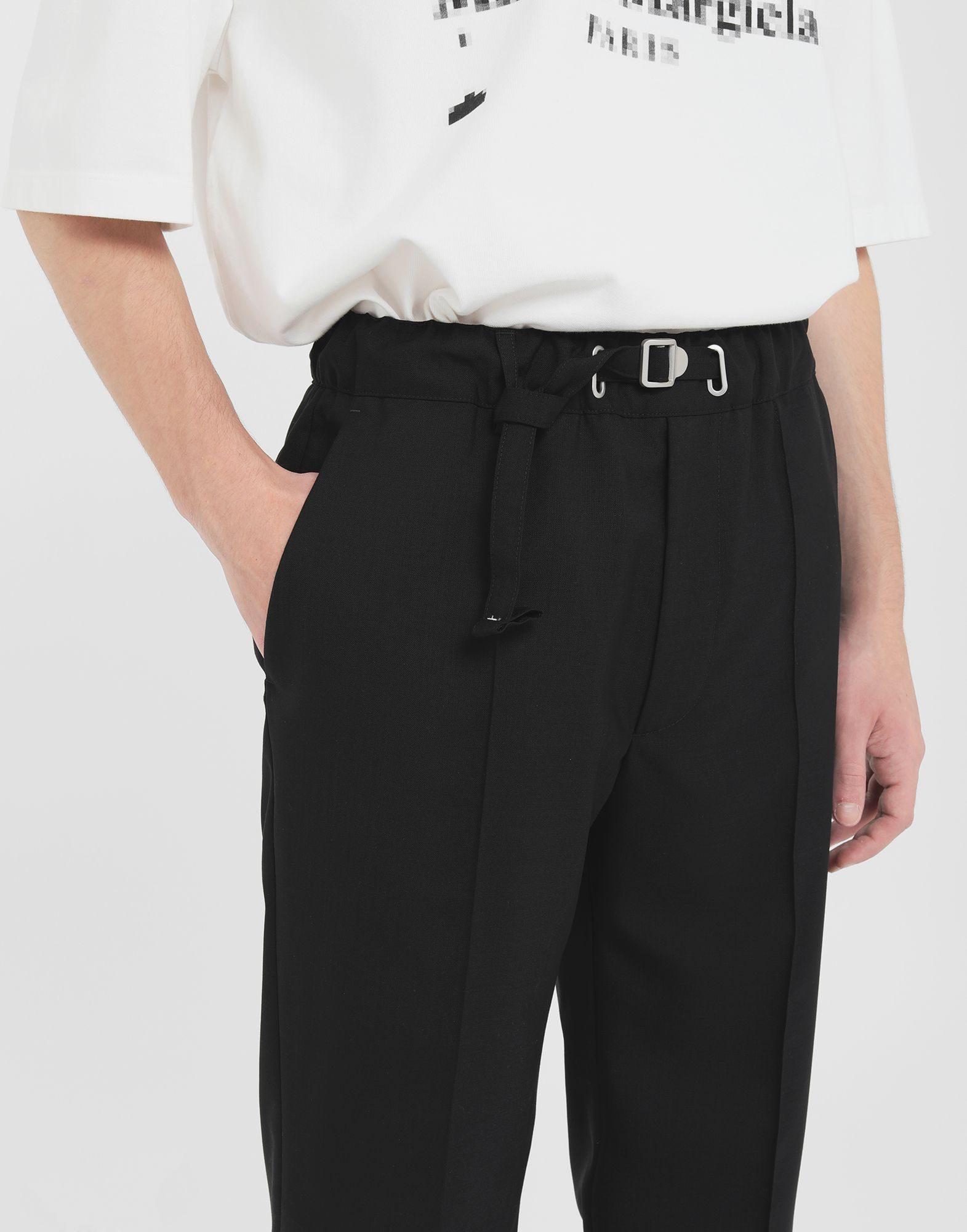 MAISON MARGIELA Adjustable wool trousers Trousers Man a