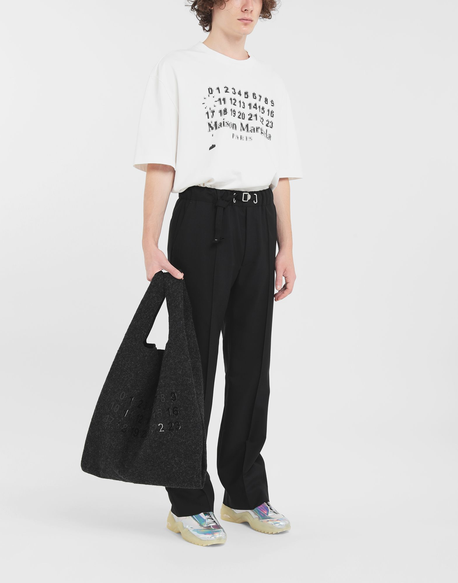 MAISON MARGIELA Adjustable wool trousers Trousers Man d