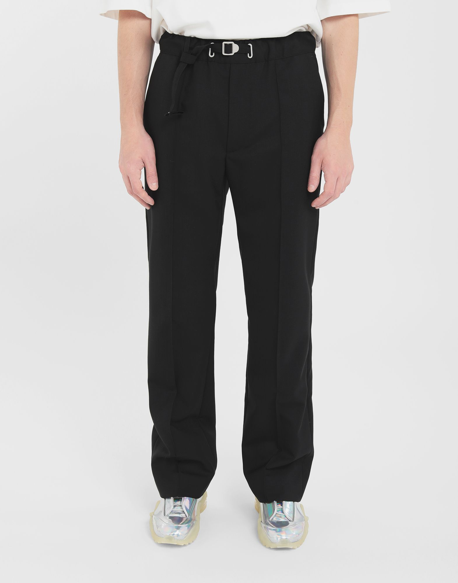 MAISON MARGIELA Adjustable wool trousers Trousers Man r