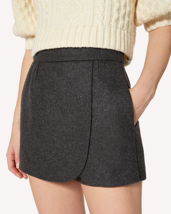 REDValentino Wool melange shorts
