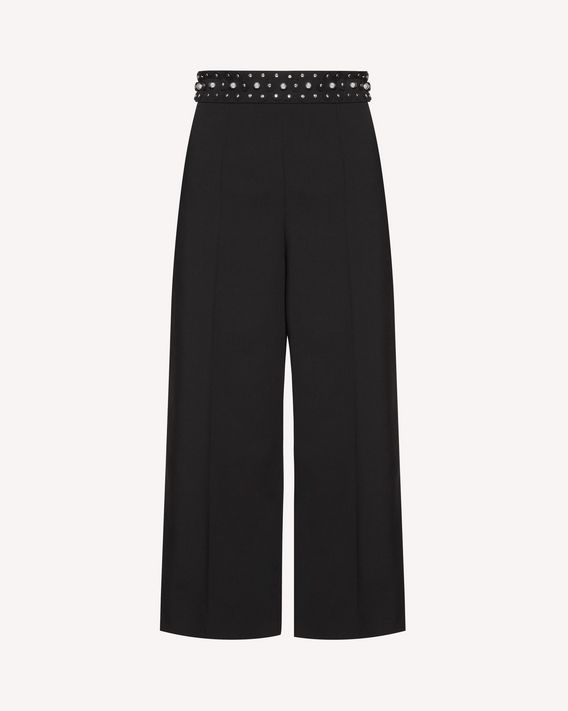 REDValentino Boules detail stretch wool reps pants