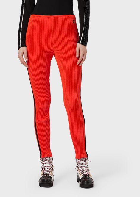 Giorgio Armani Neve rib-knit leggings