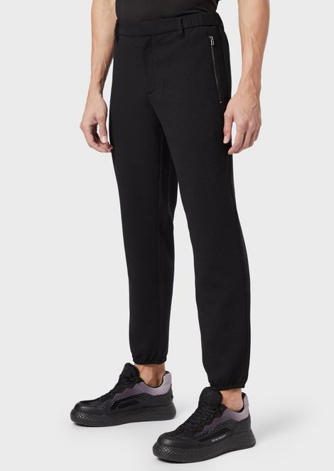 Blended-wool ripstop trousers