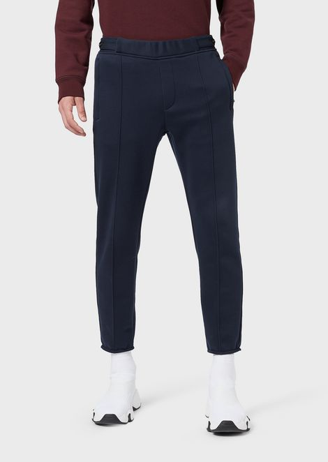 Fleece trousers with elasticated waist