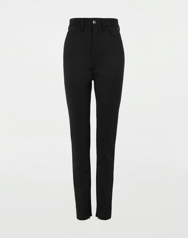 PANTS Skinny neoprene pants Black