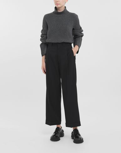 PANTS Striped tailored pants Black