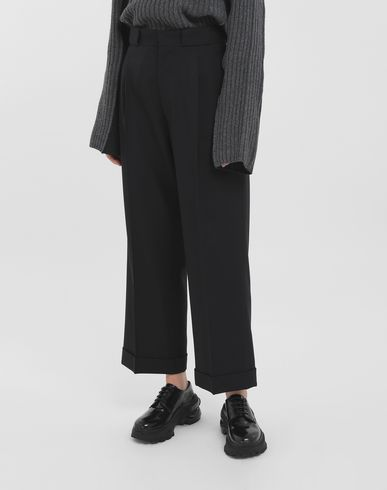 TROUSERS Striped tailored pants Black