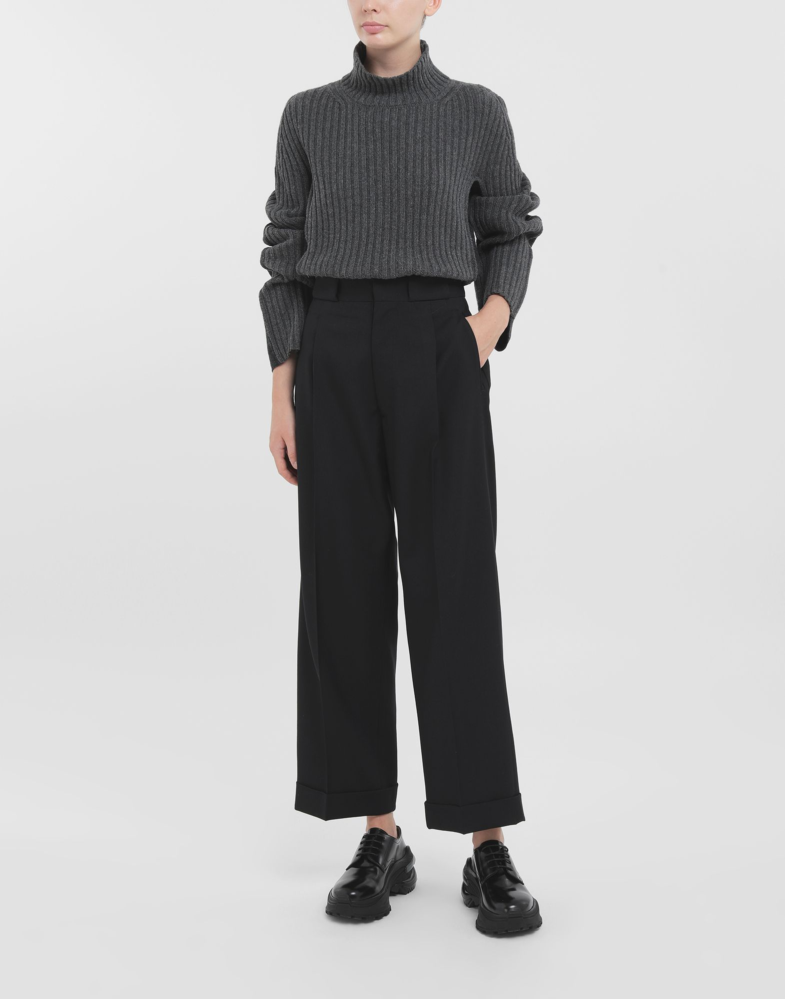 MAISON MARGIELA Striped tailored pants Casual pants Woman b