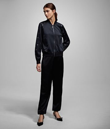 KARL LAGERFELD JOGGERS WITH EYELETS