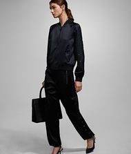 KARL LAGERFELD Joggers with Eyelets Pants Woman a
