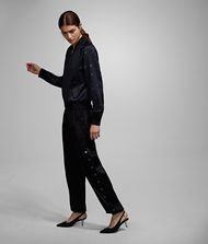 KARL LAGERFELD Joggers with Eyelets Pants Woman d