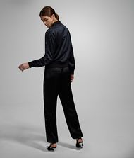 KARL LAGERFELD Joggers with Eyelets Pants Woman e